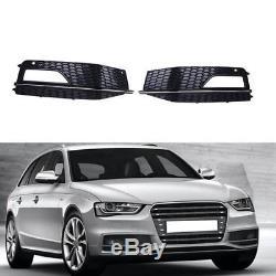 2x Pare-chocs Calandre de Phare Brouillard Feu Pour Audi A4 B9 S-Line S4 2013-15