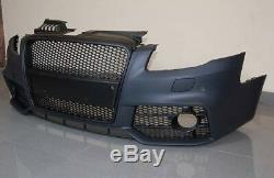 A4 B7 Complet Avant Pare-Choc Pdc Rs S-LINE Kit de Carrosserie Tuning Noir Gril