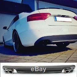 ABS Diffuseur pour Audi A5 Modèles avec Standard Tige de Choc Pare-Chocs S5 Look