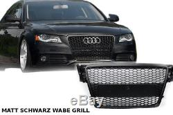 audi a4 2009 12 grillage calandre pare chocs rejilla b8 s4 grille rs 4 noir mat. Black Bedroom Furniture Sets. Home Design Ideas
