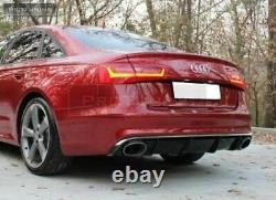 Arrière Pare Chocs Diffuseur RS6 + Embouts Aspect pour Audi A6 C7 4G 2011-2014