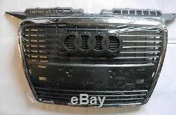 Audi A3 8P 2005-2008 GRILLE PARE CHOCS AVANT CENTRE CALANDRE CHROME NEUF TOP