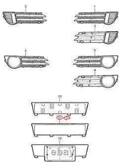 Audi A3 8P Plaque d'immatriculation 8P4807285G1QP de pare-chocs avant NOUVEAU