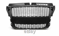Audi A3 8p 2008-2012 Tuning Rs Look Calandre Front Pare-chocs Noir Mat