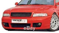 Audi A4 B5 1996-2001 Rieger OEM Véritable avant Pare-Choc RS4 ABS Plastique