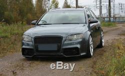Audi A4 B7 04-08 avant Pare-Choc Rs ABS Plastique Noir avec Grille