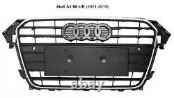 Audi A4 B8 Lift (2011-2015) Tuning Look Calandre Front Pare-chocs Noir Chrome
