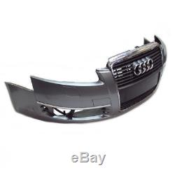 Audi A6 4F Pare-Chocs avant Pare-Chocs avec Calandre Sra LY7G Gris