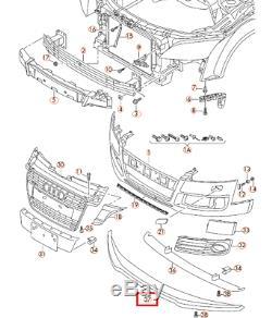 Audi Neuf D'Origine Tt MK2 07-14 Pare Choc avant Becquet Inférieur Bague