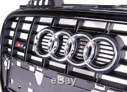 Audi Original A4 B7 8E 2004-2008 S LINE S4 Pare Choc avant Logo Grille Chrom