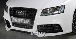 Audi RS5 Look OEM Rieger Avant Pare-Choc Avec Cf Séparateur 2008-12 B8 A5 S5 New
