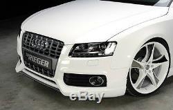 Audi S5 A5 S-LINE B8 2008-2012 Véritable Rieger OEM avant Pare-Choc Spoiler Neuf