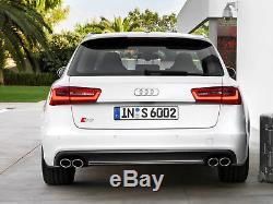 Audi S6 4g C7 11-15 OE Pare-Chocs Arrière Diffuseur S-Line Double Échappement A6