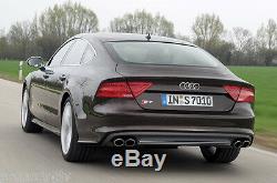 Audi S7 4g 10-14 Original Arrière Pare Chocs Diffuseur S-LINE Double Échappement