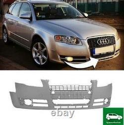 Avant Pare-Choc Sans Feu Rondelle Et Pdc Trous Compatible Avec Audi A4 B7 05-08