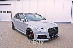 Bague pour Audi RS3 8V Pare Choc avant Coupe Spoiler Menton Jupe Séparateur 8VA