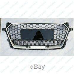 Cadre argenté grille de radiateur de pare-chocs avant pour Audi TT 15-18 YL2/89