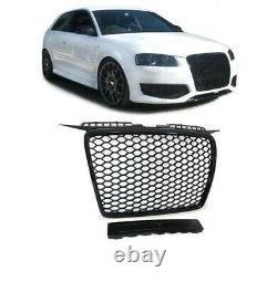 Calandre Pare Choc Single Frame Noir Brillant Rs3 Pour Audi A3 8p Et Sportback