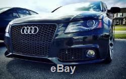 Calandre Sport Grill Rayon Noir Brillant Emblème Support pour Audi A4 B8 8K