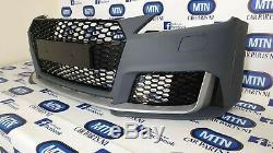 Complet Pare-Choc Pour Audi Tt Ttrs Style Avant Grille Noir Brillant Pour 2014+
