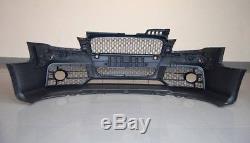 Complet Pare Choc avant Rs Style pour Audi A4 B7 S LINE Kit de Carrosserie Noir