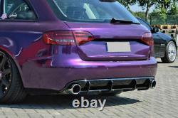 De diffuseur de pare-chocs arrière avec ailettes à nervures por Audi A4 B8 08-12