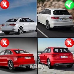 Diffuseur Audi A3 8V Hatchback 12-15 Pare-chocs Arrière S3 Echapament Quad Look