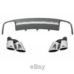 Diffuseur Pare-chocs Conseils Silencieux Audi A4 B8 Facelift Avant 12-15 S4 Look