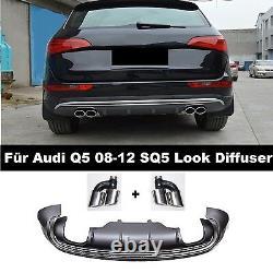Diffuseur SQ5 Look De Pare-Chocs pour Audi Q5 8R Grille Rayon Facelift 08-12 =3