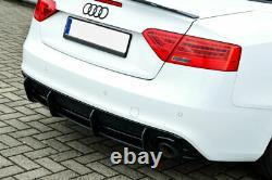 Diffuseur addon avec nervures / ailettes pour pare-chocs arrière Audi A5 B8