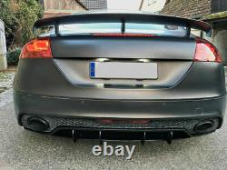 Diffuseur avec nervures / ailettes pour pare-chocs arrière Audi TT RS 8J 09-14