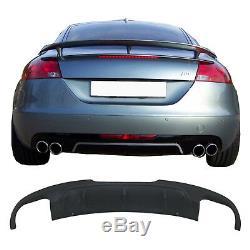 Diffuseur d'air de Pare-chocs arrière Pour Audi TT 8J Coupe 2006-2010 AB Design