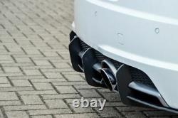 Diffuseur de pare-chocs arrière Performance nervures / ailerons pour Audi TT 8S