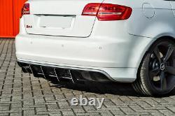 Diffuseur de pare-chocs arrière avec nervures / ailettes pour Audi RS3 8PA 11-12