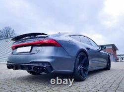 Diffuseur pare-chocs pour Audi A7 4K8 S-line Embouts d'échappement S7 RS7 Look