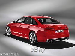 Double Échappement Diffuseur pour Audi S6 4G 11-15 Arrière Pare Chocs Difuzer