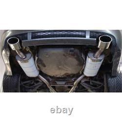 Échappement Sport Inox FOX 63,5mm Audi A6 S6 4B Quattro Avec RS6 Pare-Chocs
