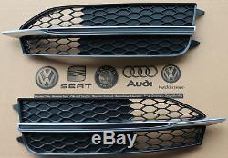 Grille pour Audi A7 S7 4G C7 LIGNE S Orig. Pare Choc avant Calandre NOIR Coupe