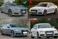 Grilles inférieures pare-chocs ACC côté pour Audi A4 B9 16-18 RS4 Look argent