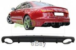 Jupe Arrière Pare Chocs Diffuseur pour Audi A6 C7 RS6 11-15