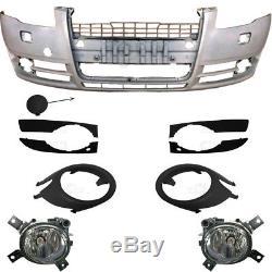 Kit Pare-Chocs avant Incl. Équipement + Brouillard pour Audi A4 8E 04-07 Aucun