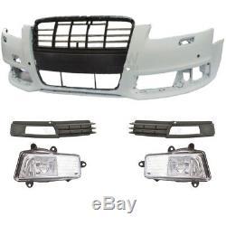 Kit Pare-Chocs avant Incl. Équipement + Brouillard pour Audi A6 4F C6 08-10 Sra