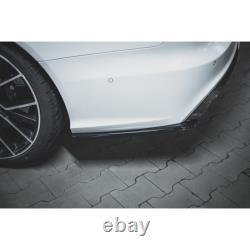 Lames De Pare-Chocs Arrière latérales V. 2 Audi Rs6 C7 Carbon Look