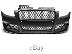 NEUF! Pare-chocs Avant pour AUDI A4 B7 2004-2008 RS STYLE Noir PDC FR ZPAU14EI X