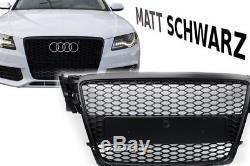 NOIR MAT calandre pour Audi A4 ALLROAD AVANT NID D'abeille devant Pare-chocs