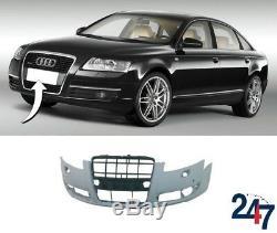 Neuf Audi A6 C6 2005 2008 avant Pare-Choc avec Lumière Rondelle et Pdc Trous