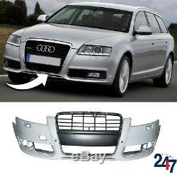 Neuf Audi A6 C6 Fl 2008 2011 Pare-Chocs avant avec Lave Phare et Pdc Trous