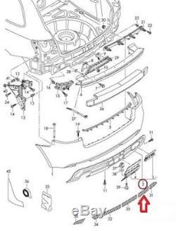 Neuf D'Origine Audi A3 09-13 S-LINE Arrière Pare Chocs Diffuseur Bordure Double