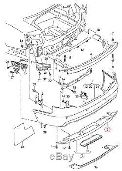 Neuf D'Origine Audi A6 C6 avant S-LINE Pare-Chocs Arrière Apprêtée Diffuseur