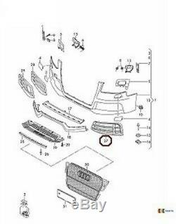 Neuf D'Origine Audi Rs5 10-16 Pare Choc avant Bas Calandre Noire Gauche Droit